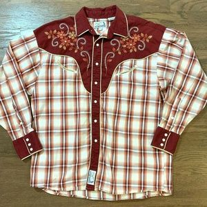 Panhandle Slim Mens Embroidered Pearl Snap Shirt